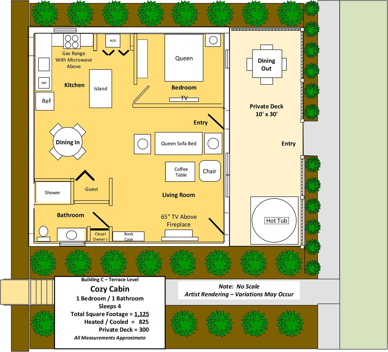 Floor Plan for Cozy Cabin
