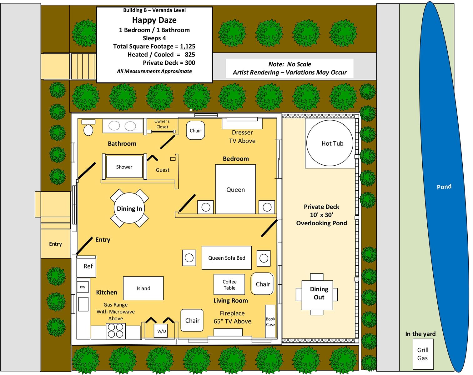 Floor Plan for Happy Daze