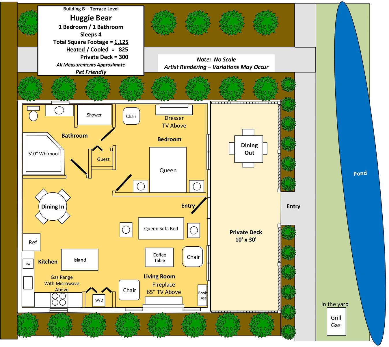 Floor Plan for Huggie Bear