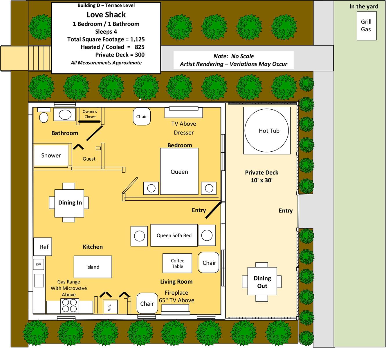 Floor Plan for Love Shack