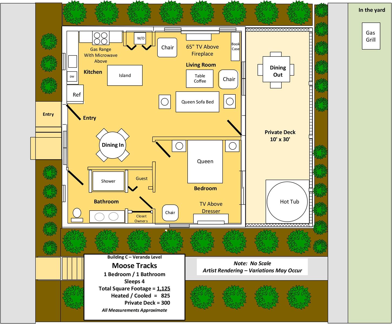 Floor Plan for Moose Tracks