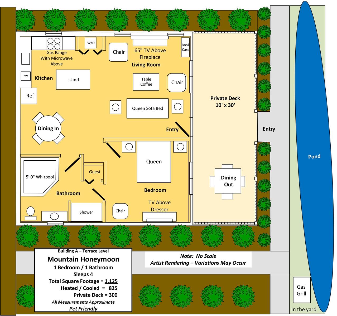 Floor Plan for Mountain Honeymoon