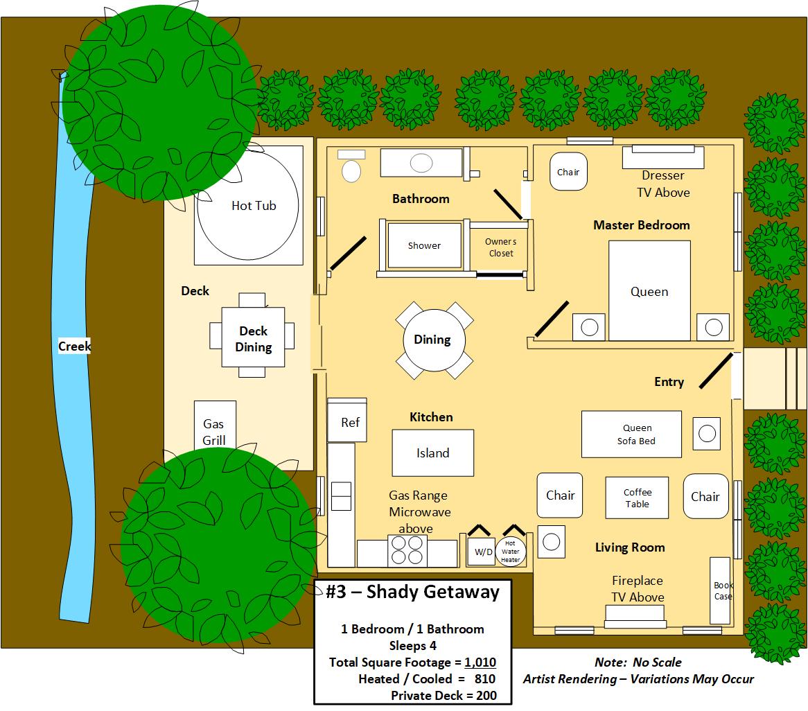 Floor Plan for Shady Getaway