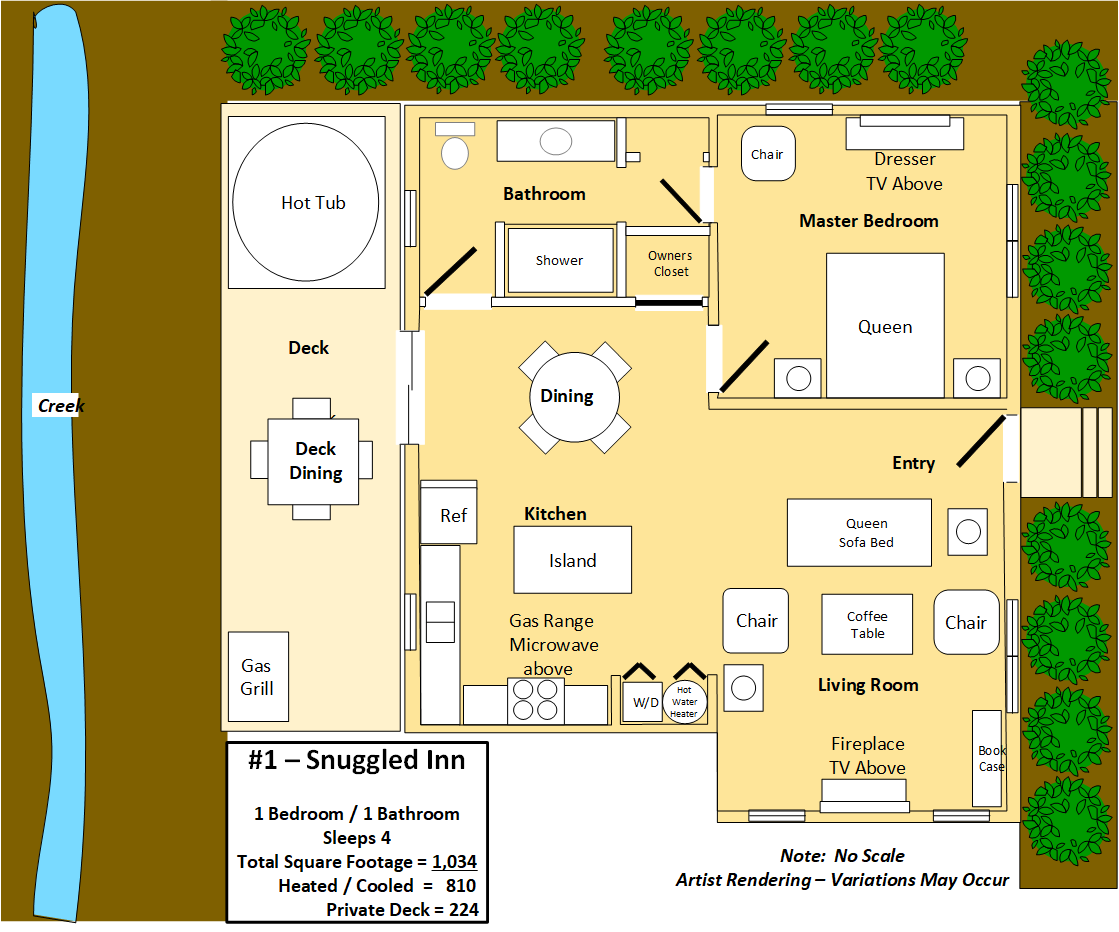 Floor Plan for Snuggled Inn